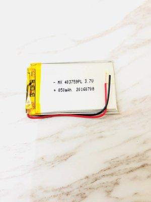 [403759] 3.7V 鋰聚合物電池