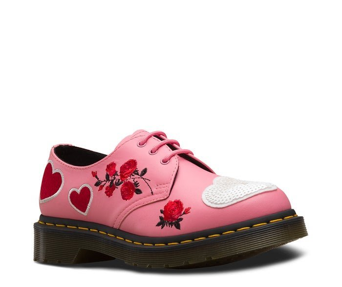 Dr.Martens 1461 粉色愛心花朵馬丁鞋  正品代購  5000 含運