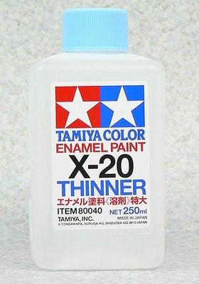 【TAMIYA X-20】油性漆專用溶劑 250ml (80040)