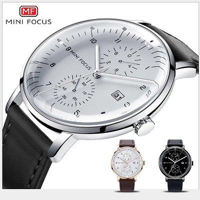 【美國熊】 日本石英機心 大三針 日期顯示 極簡風格 弧形錶面 商務腕錶 附鐵盒 送禮 男友禮物 [MNF-085]