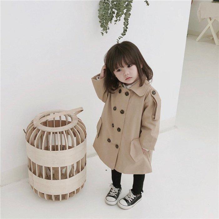 女童 風衣春秋新款3歲女寶外套 韓版 女寶小 兒童