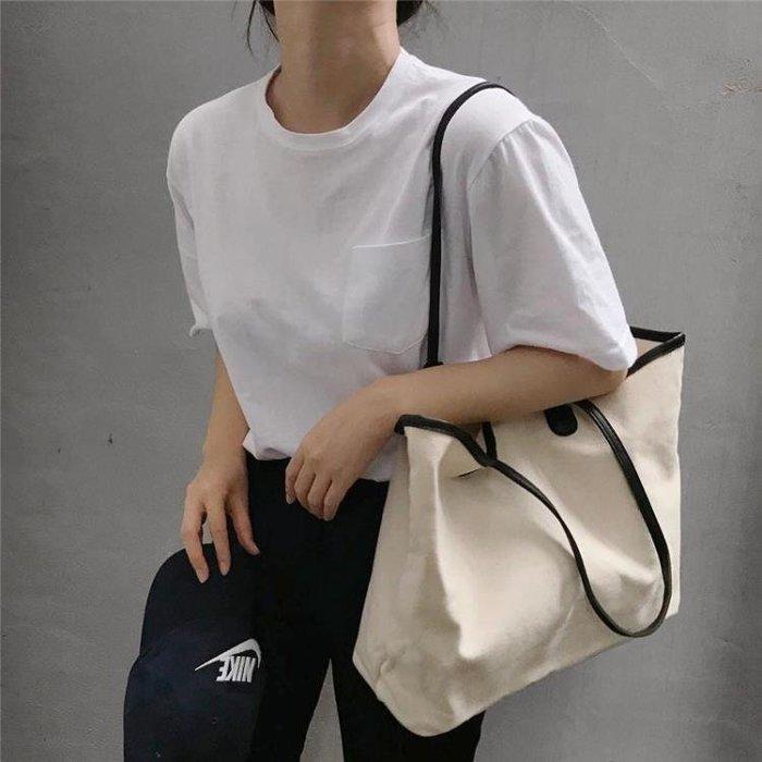 半島鐵盒 帆布袋 2019新款ins手提布包購物袋大容量單肩包休閑
