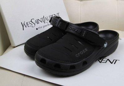 全館特惠 CROCS/卡駱馳 尤肯皮質款 男士海灘鞋 尤肯系列 休閒鞋 涼拖鞋 沙灘男鞋