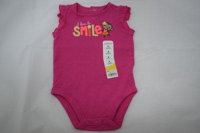 【現貨】Jumping Beans 桃紅無袖包屁衣 6M 適合當彌月禮 嬰幼兒服飾