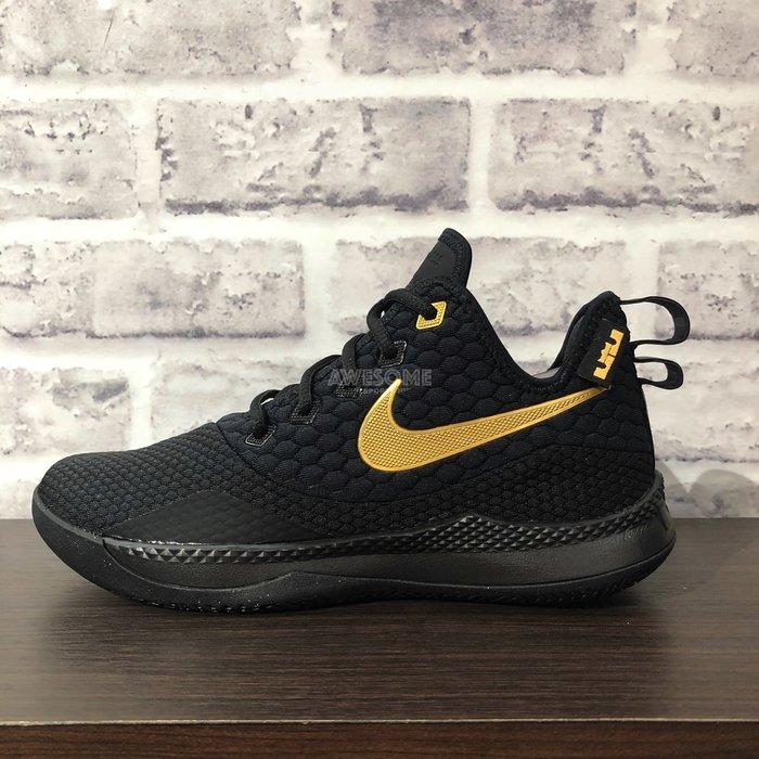 4cf5998c4c9  歐鉉 NIKE LEBRON WITNESS III EP 黑金運動鞋籃球鞋男鞋
