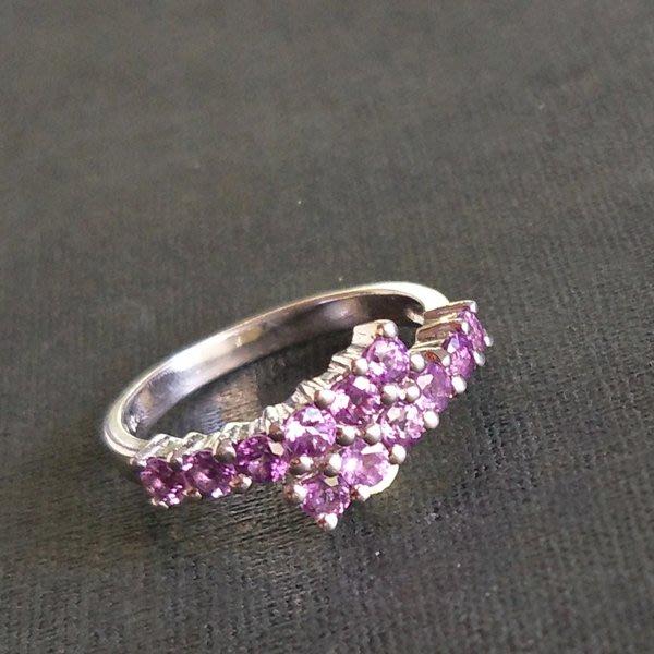 ☆采鑫天然寶石☆** 寵愛** 珠寶級天然紫水晶戒~簡約雅緻設計款~極美