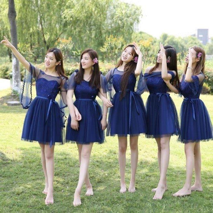 麥麥部落 小禮服伴娘服短款正韓姐妹團灰色畢業聚會活動小禮服裙MB9D8