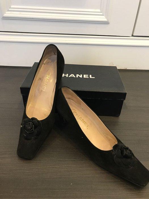 Chanel 正品山茶花高跟鞋