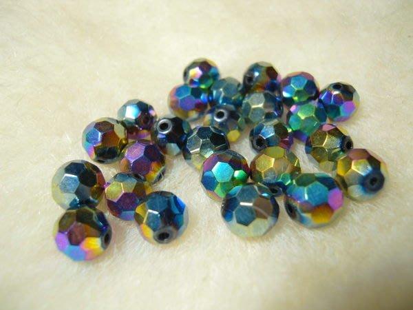 ※布箱子※ 串珠材料手作配件~8mm球面琉璃水晶(B571)~32面
