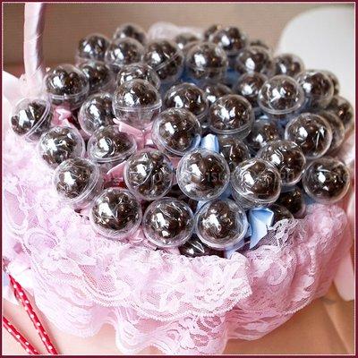 【你好棒-米果巧克力棒棒糖X100支+大提籃X1個】(限宅配)-生日分享 聖誕糖果 情人節 二次進場 來店禮贈品幸福朵朵