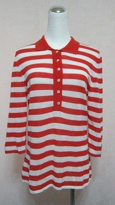 義大利名品-STRIKING-紅白海洋風橫條七分袖針衣..原價近兩萬.特價割愛..還有黑白喔~