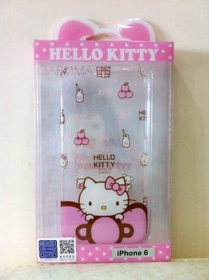 《東京家族》粉 透明 Kitty 牛奶 蝴蝶結 iphone 6/6s手機殼