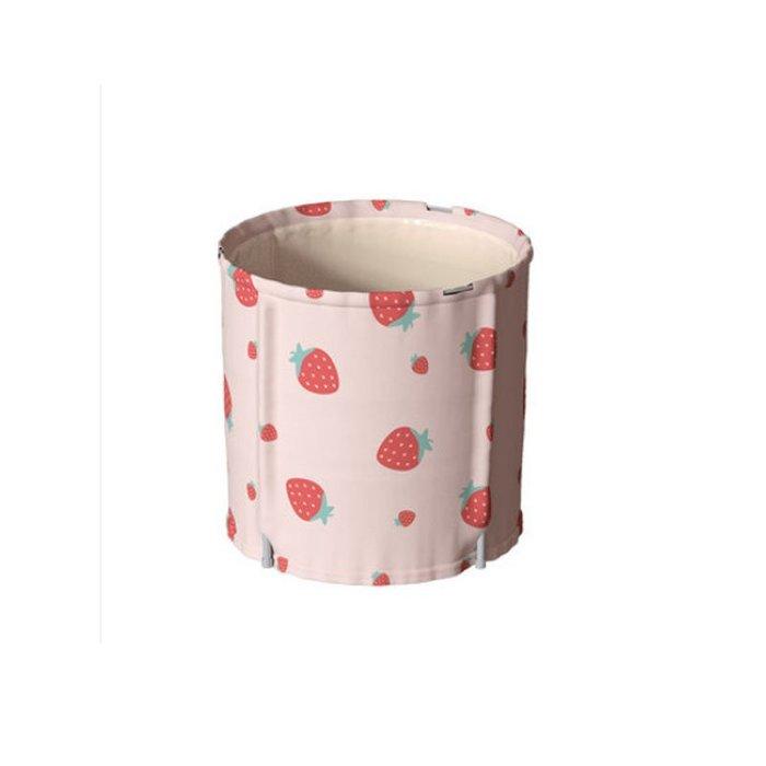 5Cgo【鴿樓】圓形折疊浴桶坐浴熏蒸桶浴盆神器方便使用泡澡桶家用塑料浸浴盆粉黃藍 597243636891