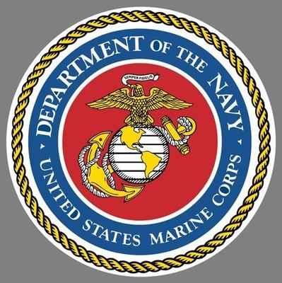 美國海軍陸戰隊 臂章貼紙 United States Marine Corps USMC