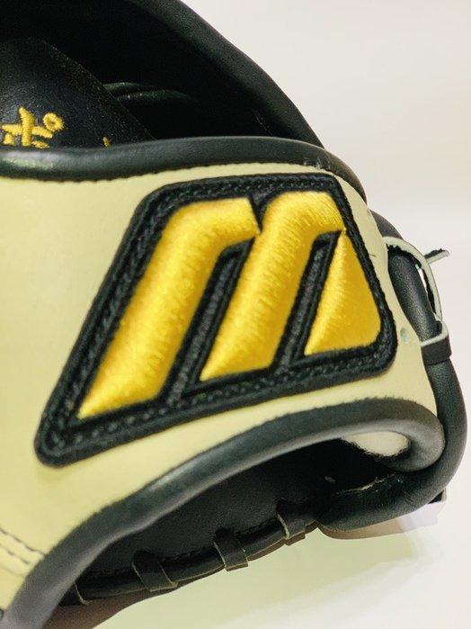 貳拾肆棒球-非賣品 Mizuno pro日本職棒選手波留式樣特別訂做外野手套,岸本耕作作/反手