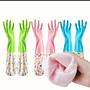 加長版印花手套, 防水防氧化 洗碗清潔 家用