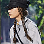 Dior 黑色貝雷鴨舌帽 ,造型充滿文藝氣息 黑...