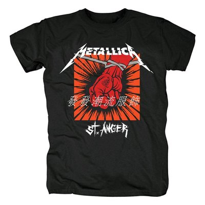 發發潮流服飾Metallica重金屬樂搖滾樂隊St.Anger專輯短袖男純棉大碼印花T恤