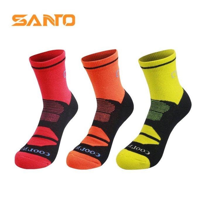 [庫木]2001現貨7-11全家快速到貨韓國運動襪羊毛襪登山襪加厚SANTO 山拓戶外運動襪 COOLMAX速干襪男女士