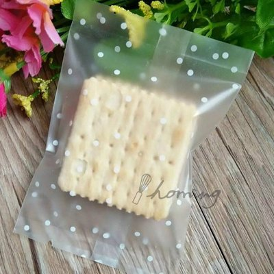 【homing】(7 X 9.5 cm)水玉點點霧面烘焙點心西點包裝袋/機封袋/平口袋/餅乾袋/牛軋餅