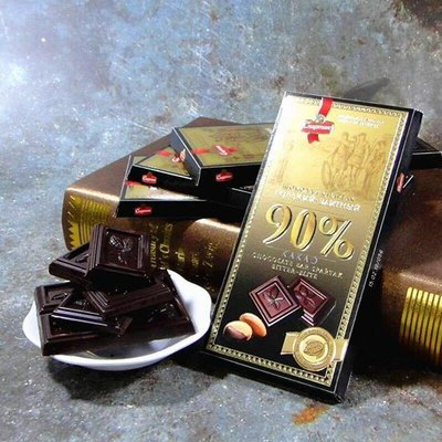 俄羅斯保健純黑巧克力90%90克