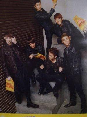 2PM TOWER 日本原版宣傳單 Nichkhun、金峻秀、玉澤演、張佑榮、李俊昊、黃燦成