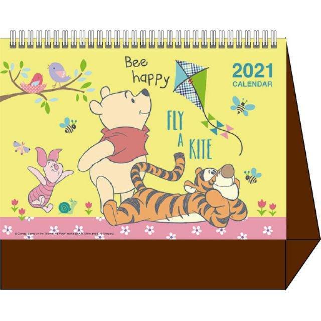 2021年 立體桌曆 卡通三角臺 記事月曆桌曆 卡娜赫拉/佩佩豬/小熊維尼/史努比