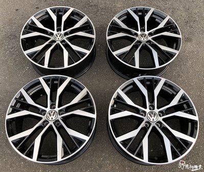 二手/中古鋁圈 福斯 VW 19吋 5孔112 原廠 黑車面 GOLF 5 6 7 7.5 R GTI TSI T4