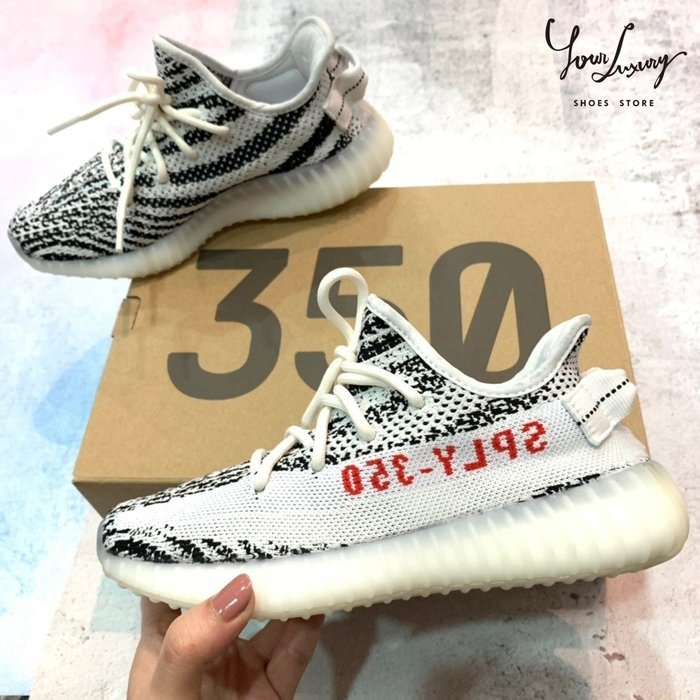 【Luxury】Adidas Yeezy Boost 350 V2 白斑馬 CP9654 現貨 正品代購 JP22 現貨