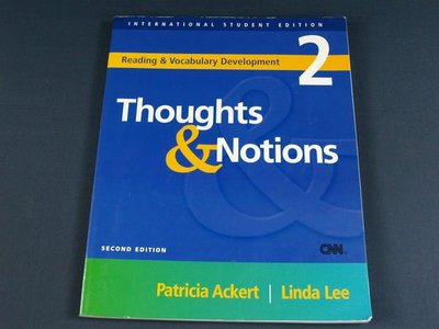 【懶得出門二手書】《Thoughts &Notions 2》MCGRAW-HILL EDUCATION ASIA│八成新