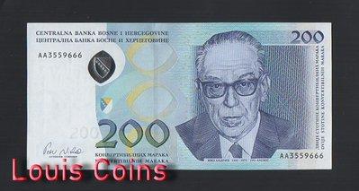 【Louis Coins】B467-BOSNIA & HERZEGOVIN-2002波士尼亞與赫塞哥維納紙幣(黑山)