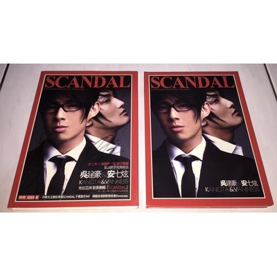 H.O.T. 安七炫 Kangta 吳建豪 2006 Scandal 首張專輯 親筆簽名 台灣紙盒版 CD + DVD