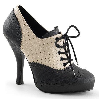 Shoes InStyle《四吋》美國品牌 PIN UP CONTURE 原廠正品復古厚底大尺碼『黑奶油駝』