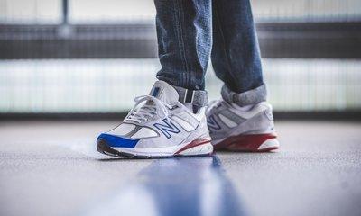 美國製 New Balance 990 / 新百倫 NB 美產 M990NB5 白藍紅 國旗 反光 麂皮 慢跑 男女鞋