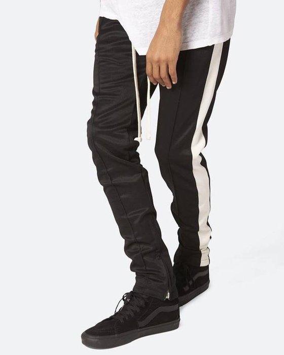 [ 羅崴森林 ] 現貨Mnml 拉繩拉鍊運動褲黑白 S/M/L/XL