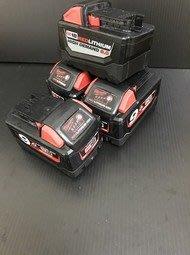 【高雄鈞星五金】美國 9成新 米沃奇 18V 9.0Ah M18B9 鋰電池 電池容量顯示另售米沃奇充電