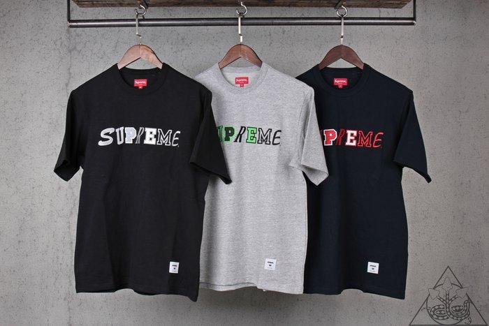 【HYDRA】Supreme Collage Logo Tee 刺繡 電繡Logo 厚磅 短T【SUP453】