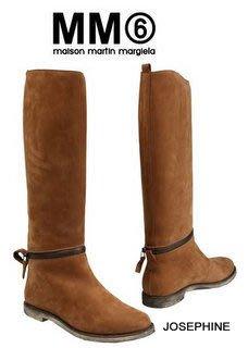喬瑟芬【MM6 BY MAISON MARTIN MARGIELA】現貨~2013秋冬可拆式小牛皮 brushed effect  長靴