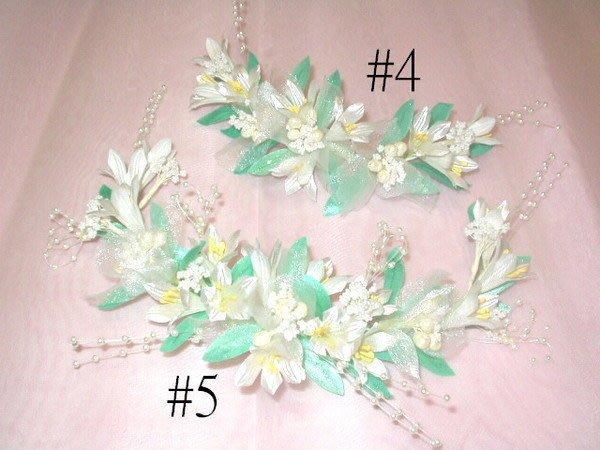 B. & W. world *美美的花飾*R13332**白色小小百合頭花、頸鏈花飾***清純可人*婚紗攝影