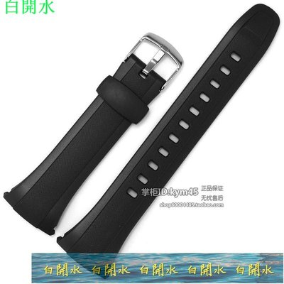 錶帶 手錶帶 原裝卡西歐表帶 WVA-M640/ M650/ WVQ-M410B手表帶 黑色樹脂膠帶--白开水 台北市