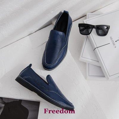 Freedom女鞋部分現貨[王小毒]【逗比系列】逗你個逗 男人豆豆鞋牛皮的好穿