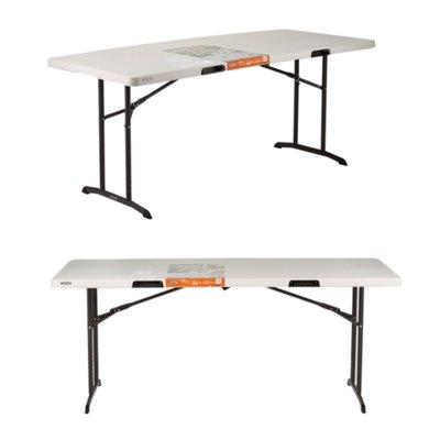 Lifetime 工業級6呎折疊桌 可對折收納 183x76x74公分