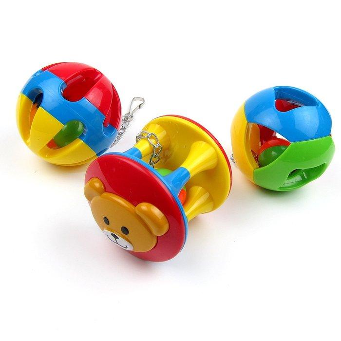 【李小貓之家】鳥玩具《鸚鵡啃咬玩具-塑膠鈴鐺球(帶鏈)》