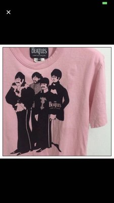 CDG The Beatles系列 粉色yellow submarine Tee comme des garcons