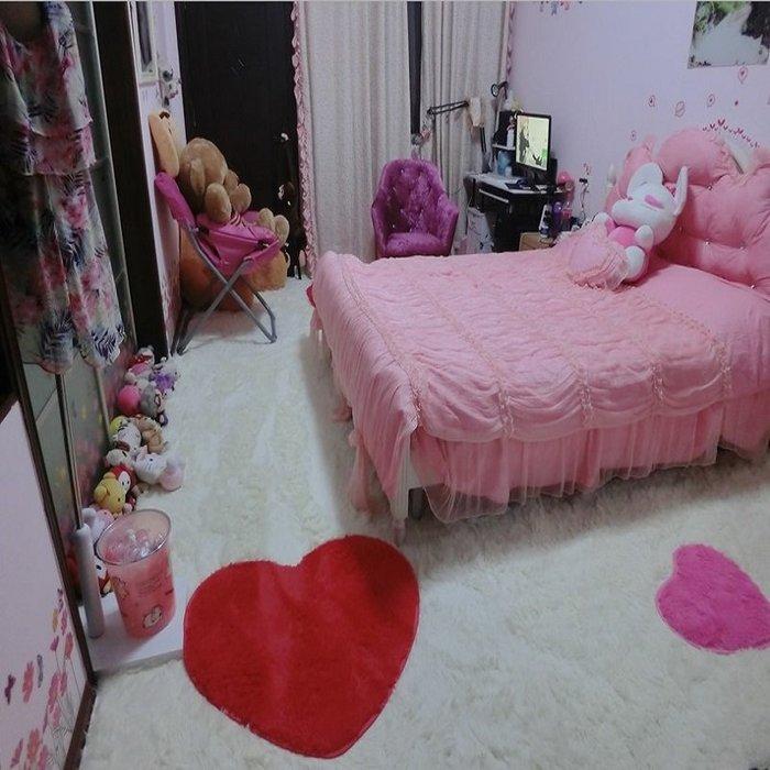 創意 夏季 必備北歐地毯臥室客廳滿鋪可愛現代簡約房間家用床邊茶幾毛絨定制地墊