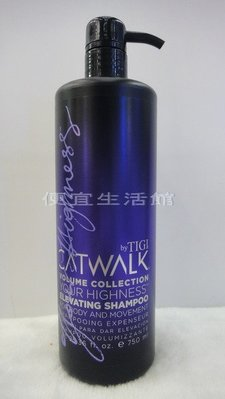 便宜生活館【洗髮精】TIGI 豐盈洗髮精750ml-(新包裝)針對細塌髮質適用 豐盈有彈力
