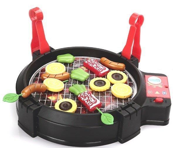 兒童BBQ電動烤肉玩具 電動燒烤 仿真家家酒玩具◎童心玩具1館◎