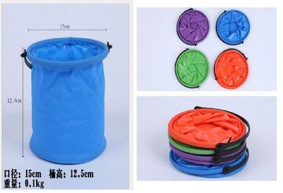 【童心屋】橡膠伸縮多功能可折疊小水桶 塑料小水桶 洗筆桶美術用品  現貨~~現貨 雲林縣