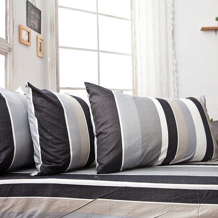 (預購)床包被套組 / 單人【簡潔休閒灰】含一枕套,100%精梳棉,戀家小舖R12-AAS112