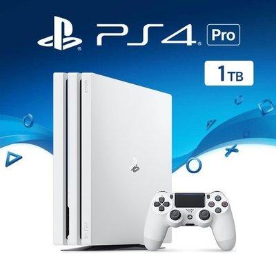 SONY PS4 PRO 新版主機 CUH-7117 1000G 1T 冰河白 白色 台灣公司貨【台中恐龍電玩】
